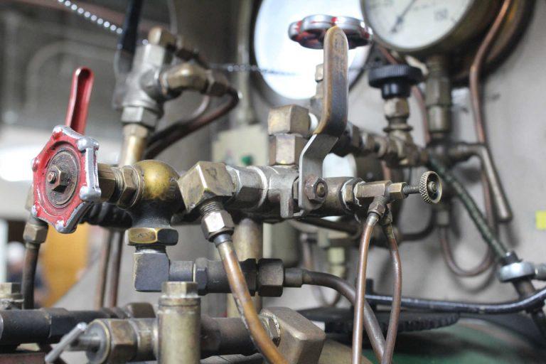BHMSRS Casey steam locomotive controls