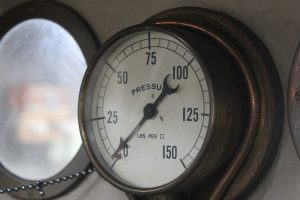 BHMSRS steam locomotive pressure gauge